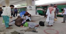 রাজশাহী রেলওয়ে স্টেশনের প্ল্যাটফর্মে এক যাত্রীর মৃত্যু