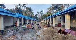 পুঠিয়ায় দ্বিতীয় দফায় ১১০টি 'পাকা ঘর' নির্মাণ শেষ পর্যায়ে
