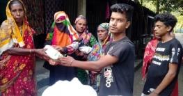 দুর্গাপুরে দরিদ্র পরিবারের মাঝে রুপালীর ত্রাণ বিতরণ