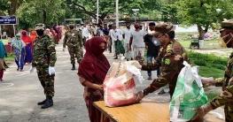 রাজশাহীতে সেনা প্রধানের ঈদ উপহার পেল ১ হাজার ৯০০ পরিবার