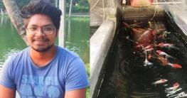 বাঘায় রঙিন মাছ চাষে জগন্নাথ বিশ্ববিদ্যালয় ছাত্রের সফলতা