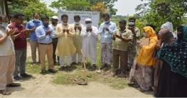 বাগমারায় শ্রীপুর সরকারী প্রাথমিক বিদ্যালয়ের ভিত্তিপ্রস্তরের