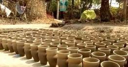 গোদাগাড়ীতে আধুনিকতার ছোঁয়ায় হারিয়ে যেতে বসেছে মৃৎ শিল্প