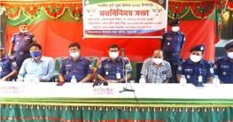 বাগমারায় মন্দির কমিটির সাথে আইন-শৃংখলা বাহিনীর মতবিনিময়