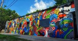 রাজশাহী নগরীতে এক নকশার উপরে সবচেয়ে বড় দেয়াল চিত্র অঙ্কণ