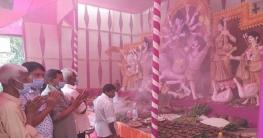 বাগমারায় মন্দিরে মন্দিরে দুর্গোৎসব