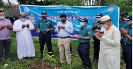 আরএমপি'র শাহ মখদুম ক্রাইম বিভাগের উদ্যোগে বৃক্ষরোপণ শুরু