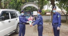 তানোর থানা পরিদর্শনে এসপি শহিদুল্লাহ